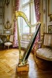 Weinlese-Harfe stockbilder