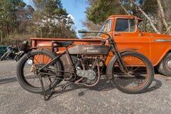Weinlese Harley Davidson Lizenzfreie Stockfotografie