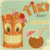 Weinlese-Hawaiianerpostkarte Lizenzfreie Stockfotografie