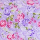 Weinlese-Hintergrund - Blumenillustration Stockfoto