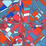 Weinlese-Hippie-geometrischer Muster-Vektor Stockbild