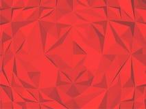 Weinlese-Hippie-geometrischer roter Muster-Vektor Lizenzfreie Stockfotos