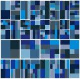 Weinlese-Hippie-geometrisches Muster im Tetris-Art-Vektor Lizenzfreie Stockbilder