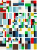 Weinlese-Hippie-geometrisches Muster im Tetris-Art-Vektor Lizenzfreies Stockbild