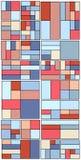 Weinlese-Hippie-geometrisches Muster im Tetris-Art-Vektor Lizenzfreie Stockfotos