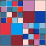 Weinlese-Hippie-Mosaik-geometrischer Muster-Hintergrund-Vektor Stockbild