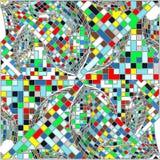 Weinlese-Hippie-Mosaik-geometrischer Muster-Hintergrund-Vektor Lizenzfreies Stockfoto