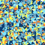 Weinlese-Hippie-nahtloser geometrischer Muster-Hintergrund-Vektor Stockfotografie