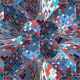 Weinlese-Hippie-nahtloses geometrisches Muster Stockfoto