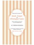 Weinlese-Hochzeits-Einladungs-Karten-Einladung Stockbilder
