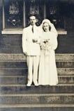 Weinlese-Hochzeits-Foto Lizenzfreies Stockfoto