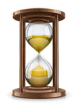 Weinlese Hourglass im Holzrahmen Lizenzfreie Stockfotos