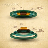 Weinlese infographics Set Stockfoto