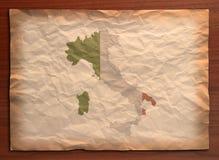 Weinlese-Italien-Papierfertigkeit lizenzfreies stockbild
