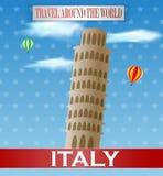 Weinlese-Italien-Reise Stockfoto