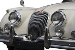 Weinlese-Jaguar - Frontseite Lizenzfreies Stockfoto