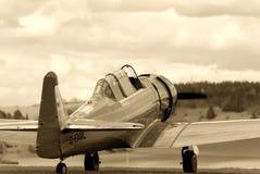 Weinlese-Kämpfer-Trainings-Flugzeuge Lizenzfreies Stockfoto