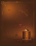 Weinlese-Kaffee-Hintergrund stock abbildung