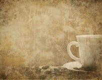 Weinlese-Kaffee-Hintergrund Lizenzfreies Stockfoto