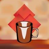 Weinlese-Kaffee-Menü-Schablone lizenzfreie abbildung