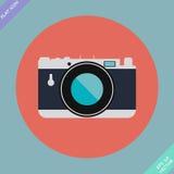 Weinlese-Kamera-Ikone - Vektorillustration Stockfotografie