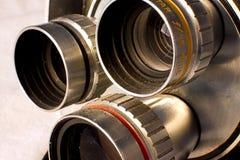 Weinlese-Kameraobjektive Stockfotografie