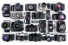 Weinlese-Kameras. Lizenzfreie Stockfotos