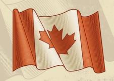 Weinlese-Kanadier-Markierungsfahne Stockfotografie