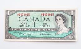 Weinlese-kanadisches Dollarschein stockfoto