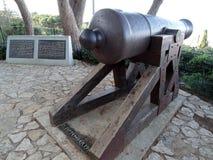 Weinlese-Kanone auf dem Karmel in Haifa lizenzfreies stockbild