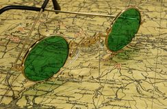 Weinlese-Karte lizenzfreies stockfoto
