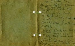 Weinlese-Karte Stockbild