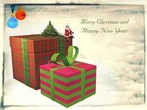 Weinlese-Karte für Weihnachten stock abbildung