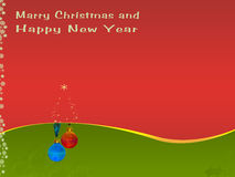 Weinlese-Karte für Weihnachten lizenzfreie abbildung