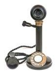 Weinlese-Kerzenhalter-Telefon Stockfotos