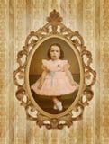 Weinlese-Kind-Portrait Lizenzfreies Stockbild