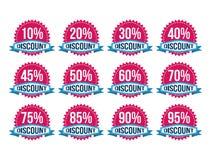 Weinlese-klassische Rabatt-Ausweise Lizenzfreies Stockbild