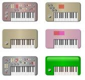 Weinlese-kleine Tastaturen Stockbilder