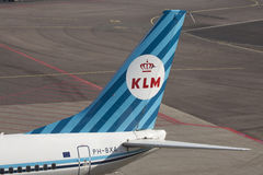 Weinlese KlM Boeing 737 Stockbild