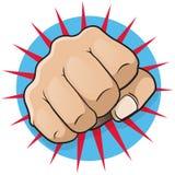 Weinlese-Knall Art Punching Fist Lizenzfreie Stockfotos