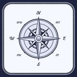 Weinlese-Kompass, Windrose vektor abbildung