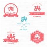 Weinlese-Kraken-Ausweissatz Stockbild