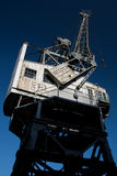 Weinlese-Kran auf Bristol Dockside Stockbilder