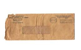 Weinlese-Krieg-Abteilungs-Umschlag Stockfoto