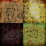 Weinlese-Kunstdruckpapier-Hintergrund Stockfotos