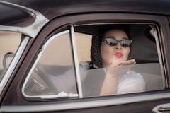 Weinlese-Kuss Auf Wiedersehen Stockfoto