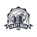 Weinlese-Land-Emblem-Typografie für Bier-/Restaurant-Logoentwurfsvektorillustration stock abbildung