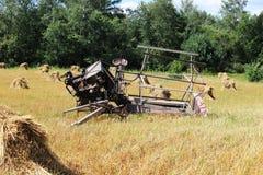 Weinlese-landwirtschaftliche Maschinen Stockfoto