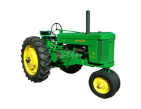 Weinlese-Landwirtschafts-Traktor John Deeres 70 Stockfotos