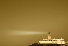 Weinlese-Leuchtturm Portugal Stockfoto